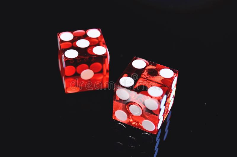 Photo of Two Red Dices royalty free stock photo