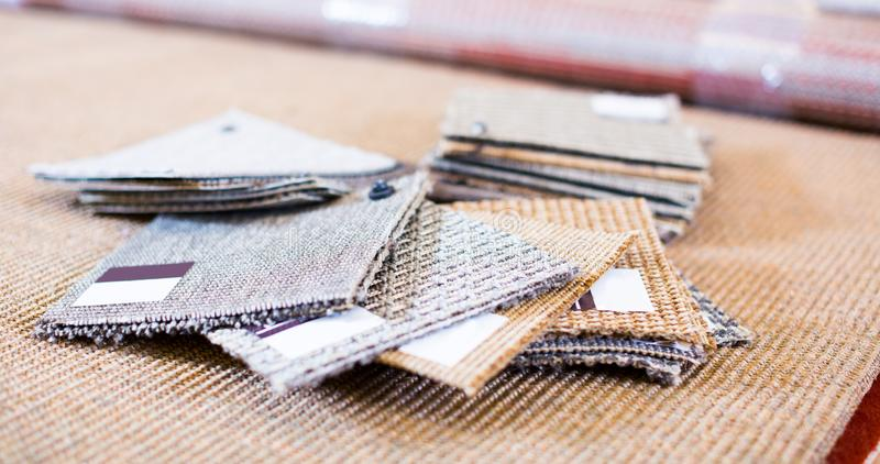 Photo of  variants  of carpets. Photo of  variants  of carpets home furnishing store royalty free stock photos