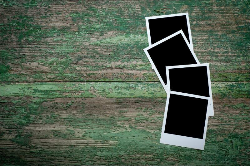 Photo vide de vintage sur une table en bois images stock