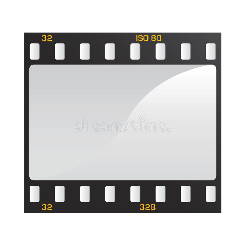 Photo and video film vector. 1 royalty free illustration