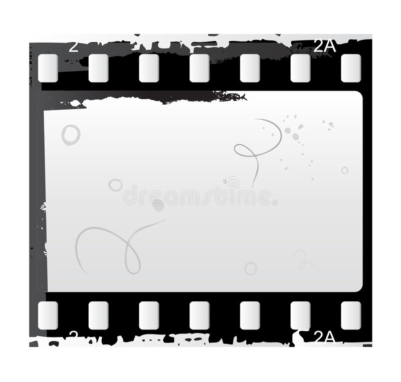Photo and video film vector. In black and white royalty free illustration