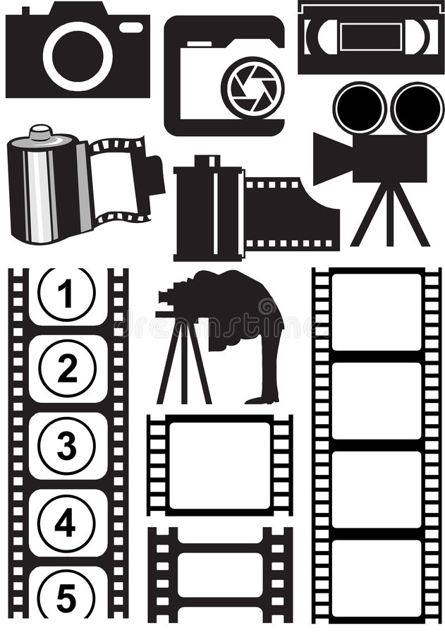 Download Photo and video stuff stock vector. Image of photographer - 3913709