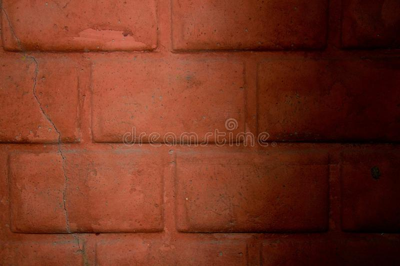 Photo wall brick wall. The texture of an old brick wall, shot under natural lighting. Wall beginning of the 20th century royalty free stock image