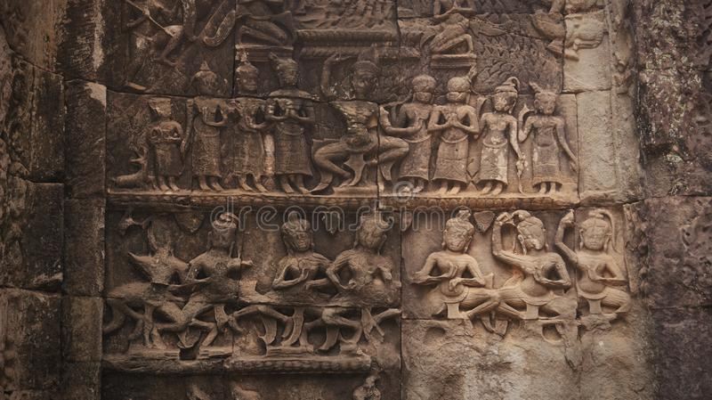 The Images of Angkor, Cambodia stock photo