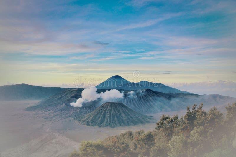 Scenic view of mountain range. Photo was taken in bromo mountain indonesia stock photos