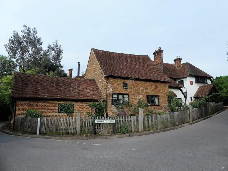 King John`s Farm and Penn Cottage, Berry Lane, Chorleywood stock photography