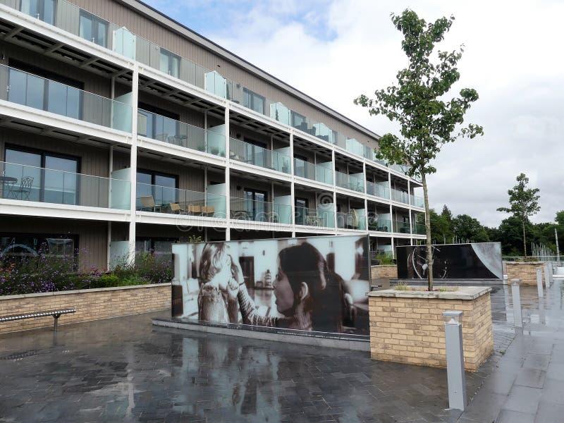 Miles House luxury apartments, Stanley Kubrick Road, Denham Film Studios royalty free stock photos