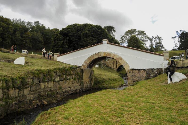 Bridge of boyaca royalty free stock images