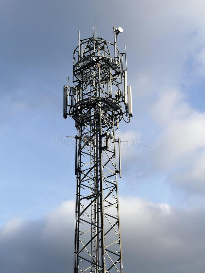 Mobile Phone Mast, Micklefield Green stock photos