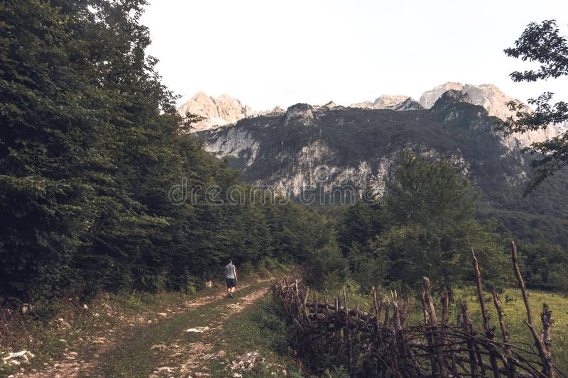 View through the albanian mountains royalty free stock images
