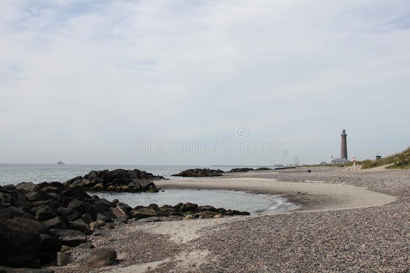 Grenen. The northest point of Jutland. stock photo
