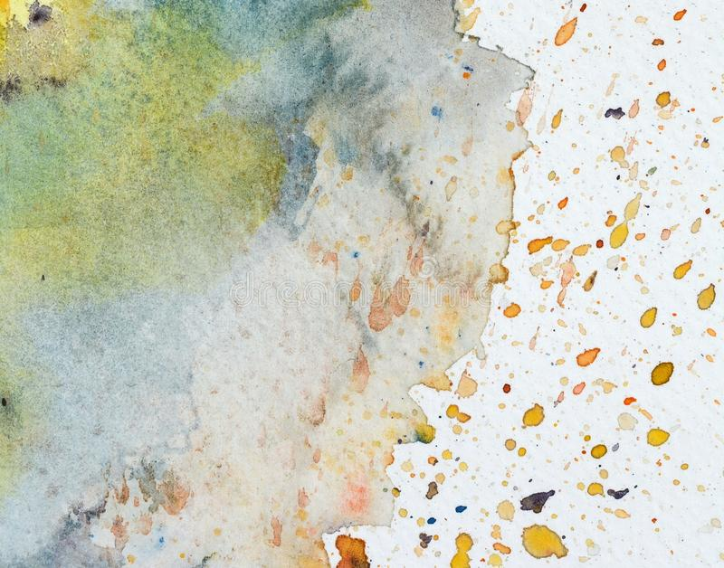 Photo of Watercolor texture on paper close-up. Abstract watercolor art hand paint on white background,Watercolor background vector illustration