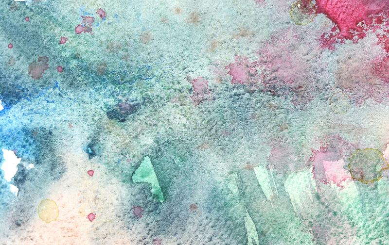 Photo of Watercolor texture on paper close-up. Abstract watercolor art hand paint on white background,Watercolor background stock illustration
