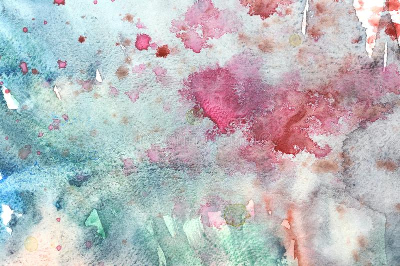 Photo of Watercolor texture on paper close-up. Abstract watercolor art hand paint on white background,Watercolor background royalty free illustration