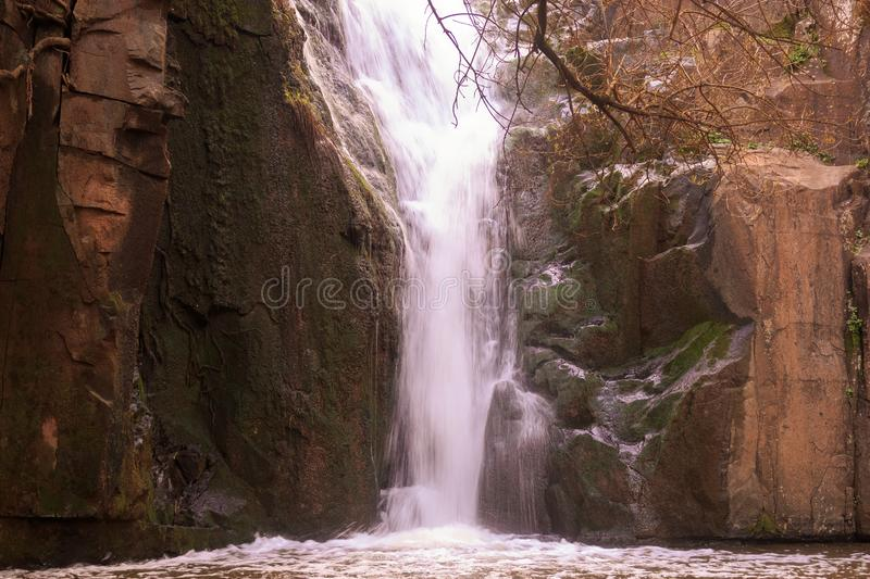Photo of Waterfall mountain view close up royalty free stock photos