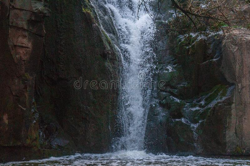 Photo of Waterfall mountain view close up stock images