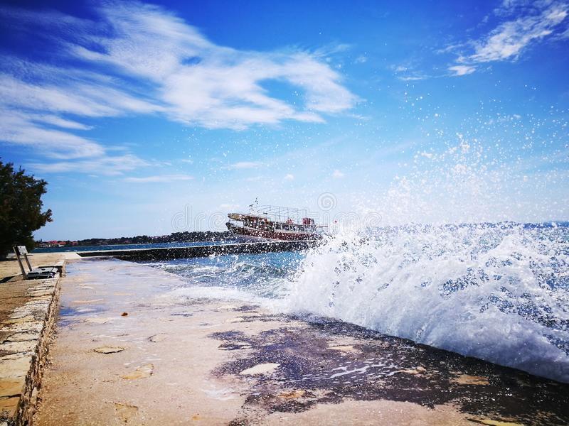 Photo of Wave Under Clear Sky royalty free stock photography