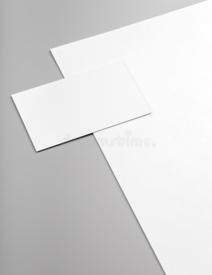 Download Business Cards And Letterhead Mock Up Stock Photo   Image Of  Isolated, Communication: