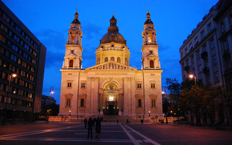 Photo Of White Cathedral During Night Time stock photos