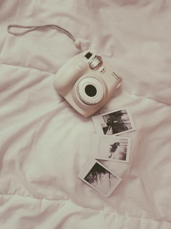 Photo of White Fujifilm Instax Camera royalty free stock photo