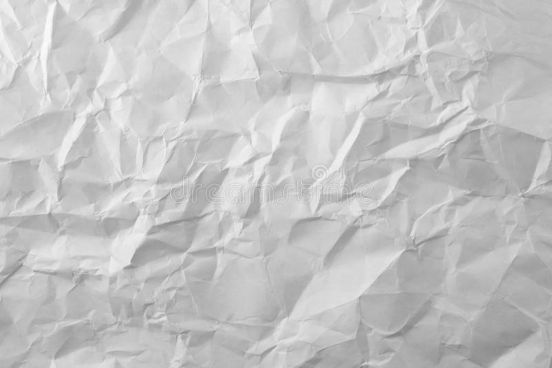 Photo White Sheet Of Crumpled Paper Stock Photos
