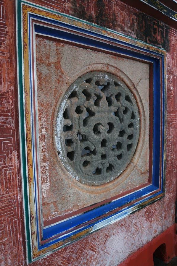 Window Tao Temple Malaysia. The photo of the window in Chinese Tao Temple in Malaysia stock images