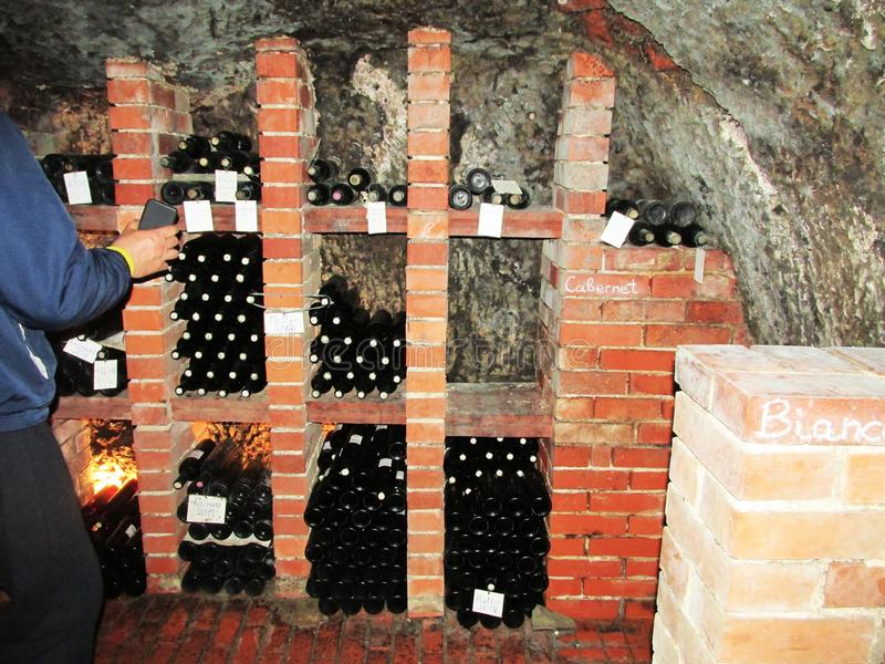 Photo of a wine cellar stock photo