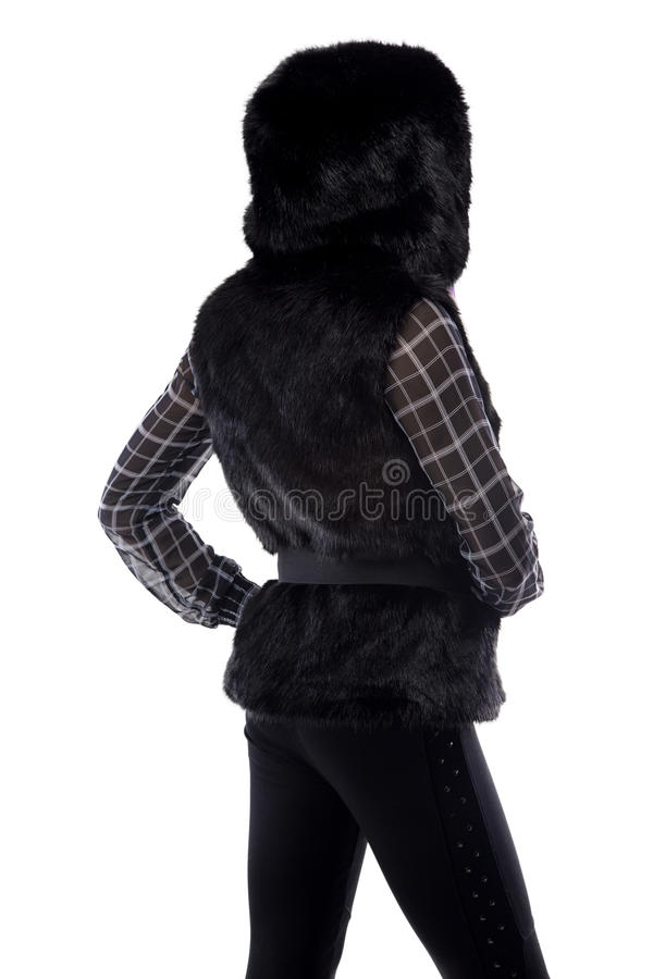 Photo of woman in black hood stock images