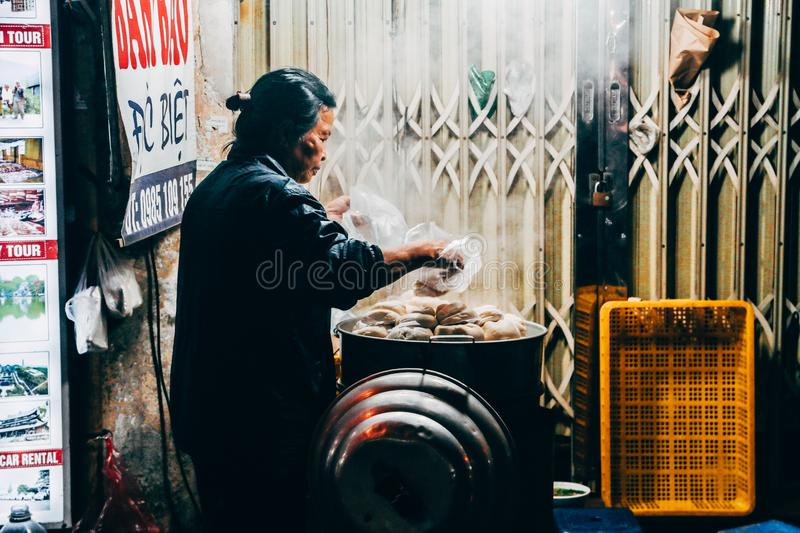 Photo of a Woman in Gray Long-sleeved Top Holding Plastic Bags royalty free stock photography