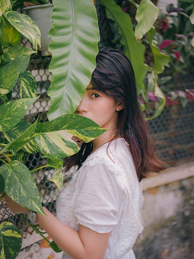 Photo of Woman Near Plants stock photography