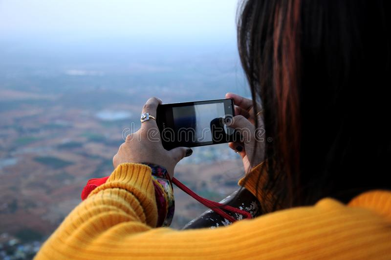 Photo of Woman Taking Picture stock image