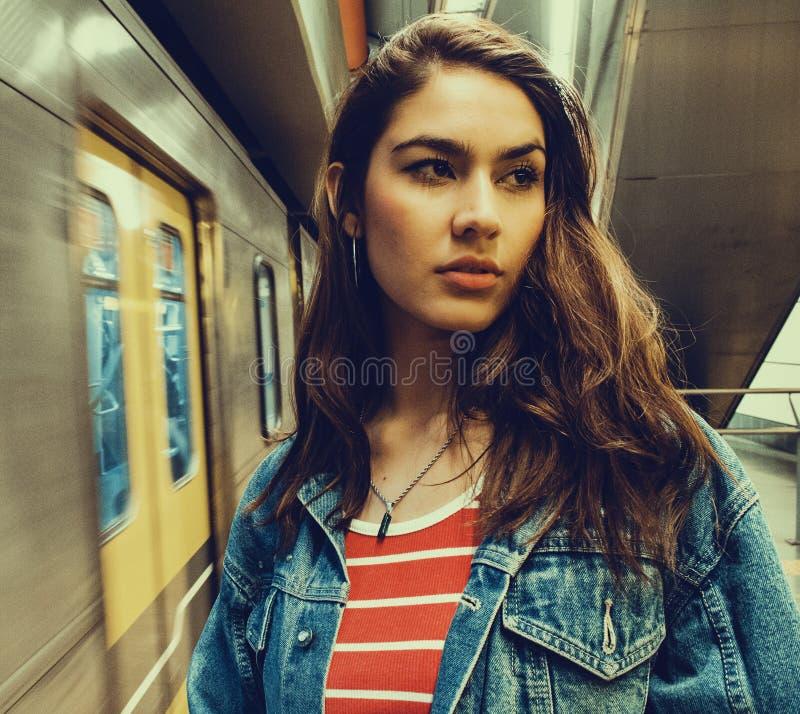 Photo of a Woman Wearing Blue Denim Jacket stock photo