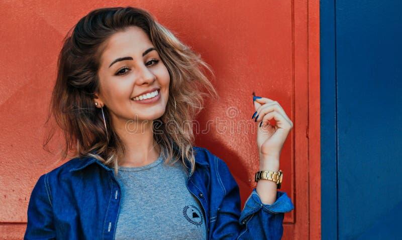 Photo of Woman Wearing Blue Zip-up Jacket stock photo