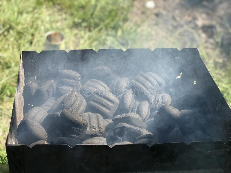 Photo of wooden preparing for barbecue stock photography