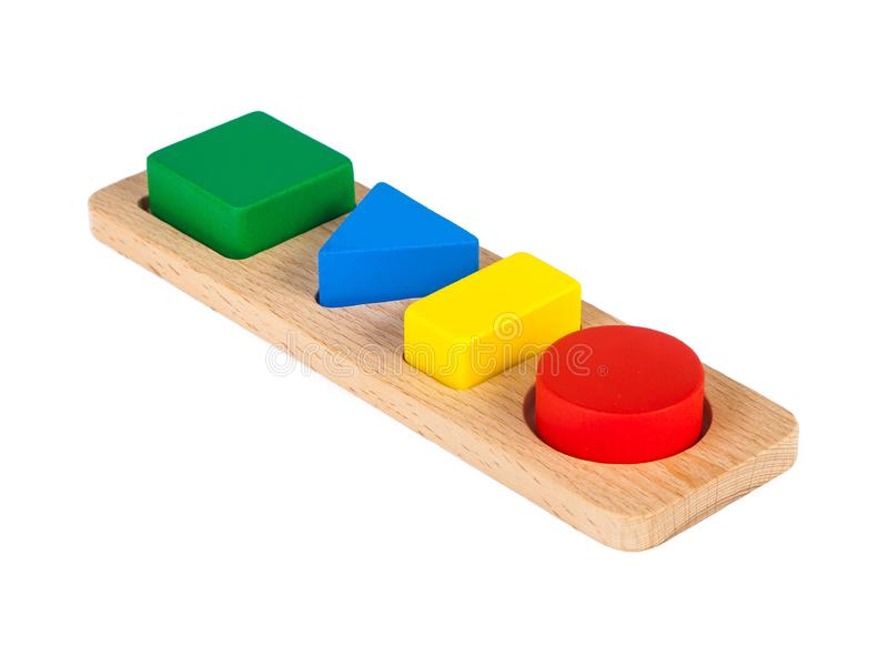 Photo of a wooden toy sorter stock images