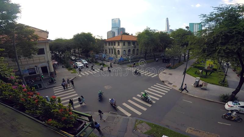 Quite a busy intersection in one of the countries of Oceania. In the photo You can see  quite a busy intersection in one of the countries of Oceania stock photos