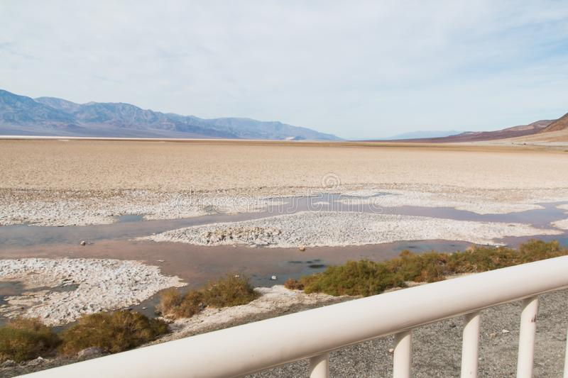 Badwater Basin in the Death Valley. In the photo you see the Badwater Basin in the Death Valley National Park in California and Nevada stock images