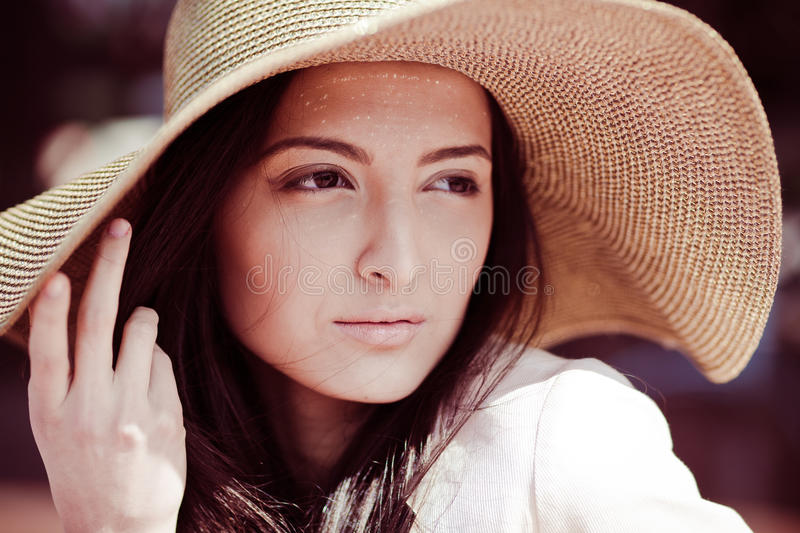 Photo of a young beautiful woman royalty free stock image