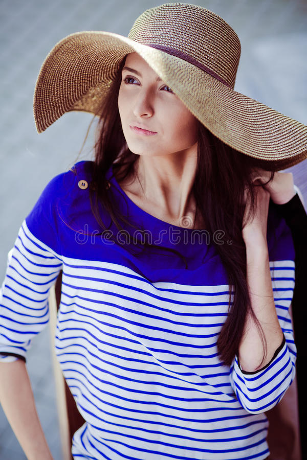 Photo of a young beautiful woman royalty free stock images