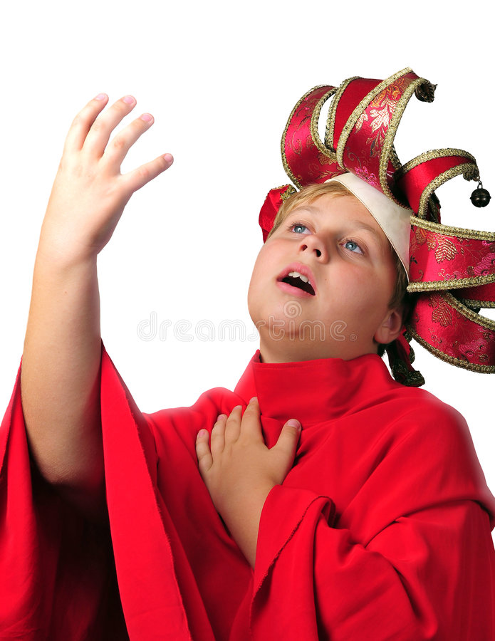 Photo of young boy acting stock photography