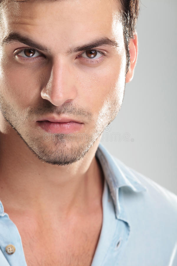 Photo of a young casual man royalty free stock images