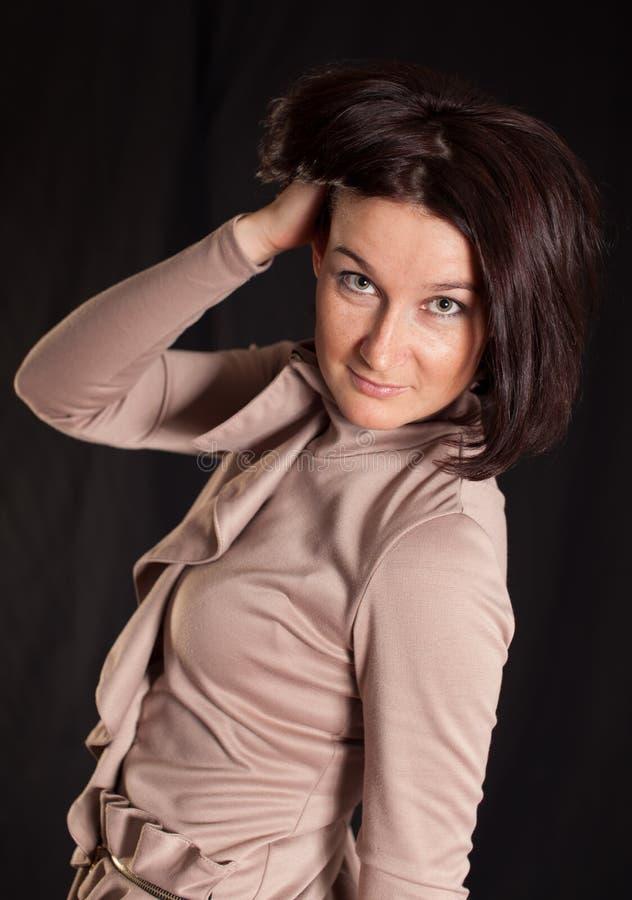 Lady posing in studio
