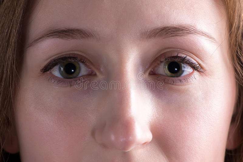 Photo of young woman's face royalty free stock images