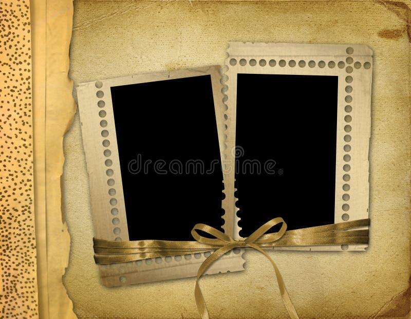 Photoalbum velho do grunge para fotos ilustração royalty free