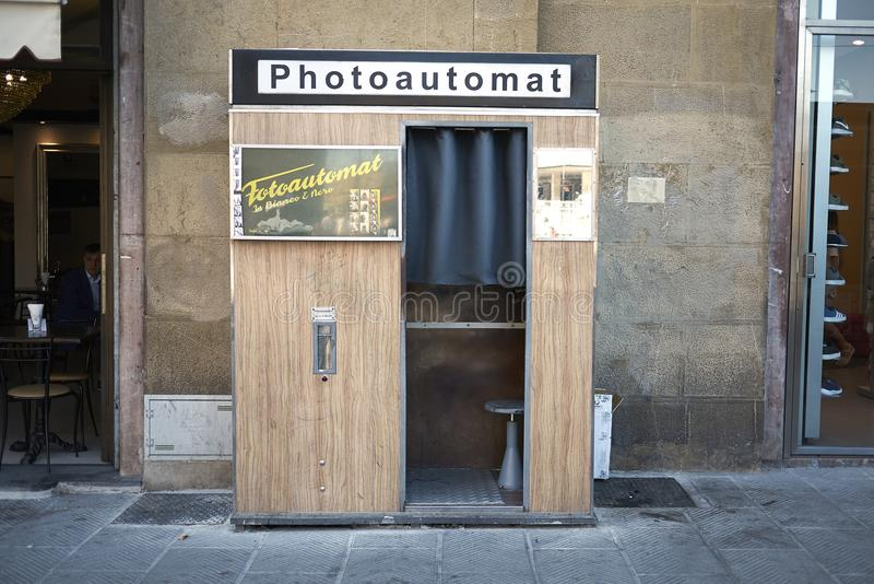 Photoautomat em Florença imagens de stock royalty free