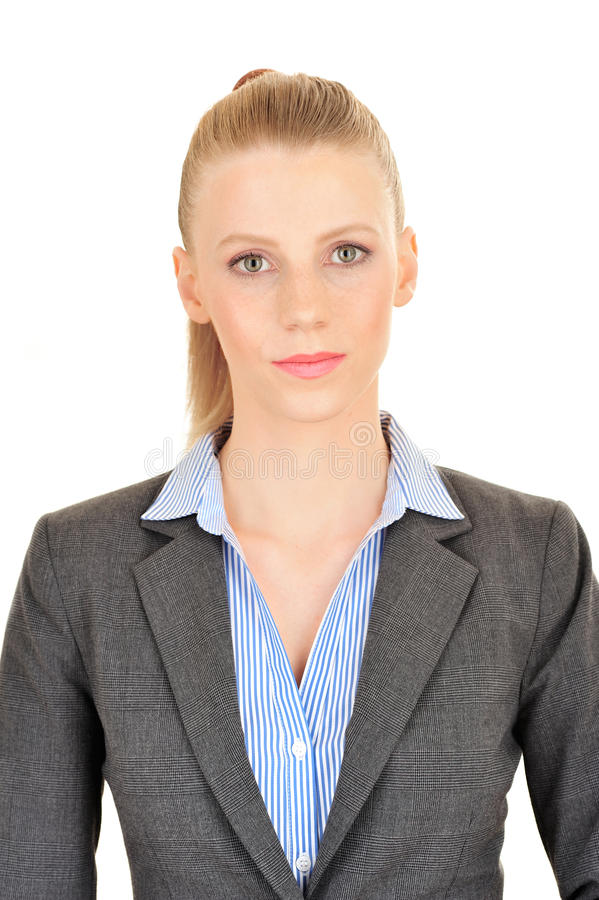 Photobooth portrait of a businesswoman stock image
