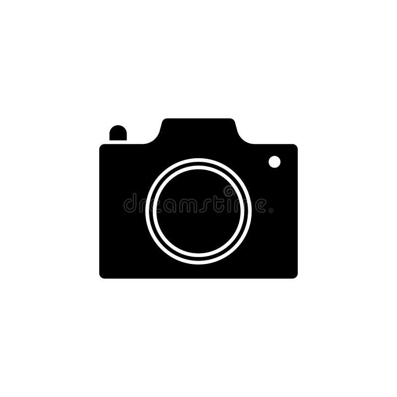 Photocamera-Ikone Zeichen und Symbole können für Netz, Logo, mobiler App, UI, UX verwendet werden stock abbildung