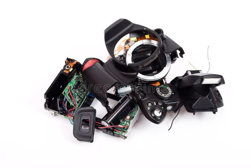 Photocamera quebrado fotografía de archivo libre de regalías