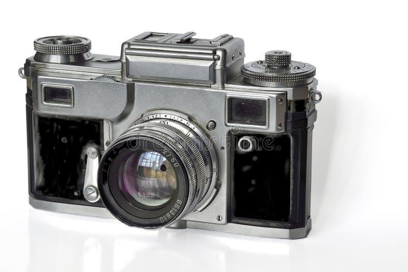 Photocamera velho do filme do vintage fotografia de stock