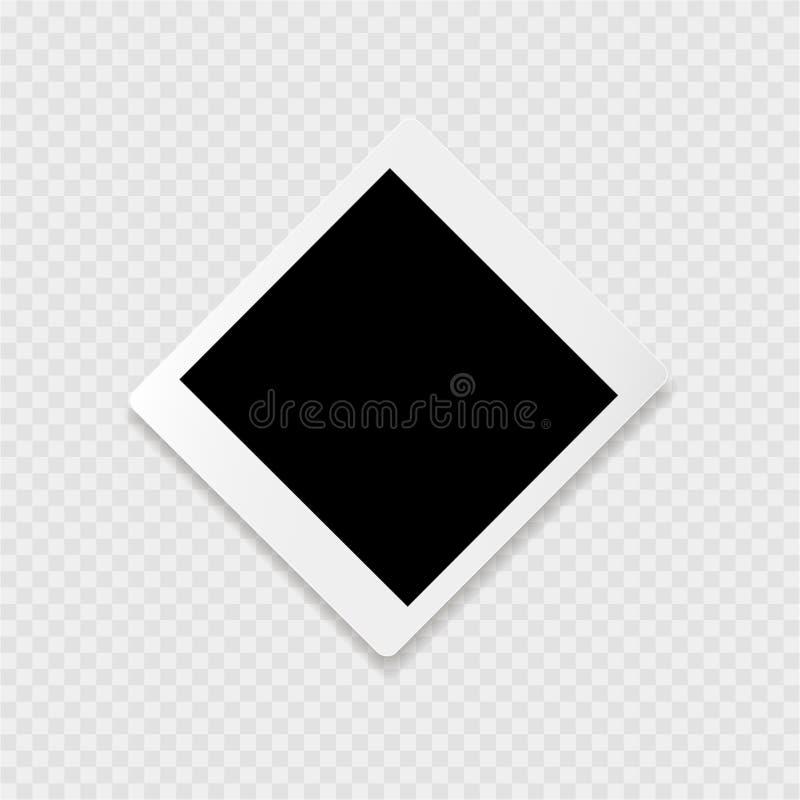 Photoframe с белым контуром на серой предпосылке бесплатная иллюстрация